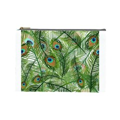 Peacock Feathers Pattern Cosmetic Bag (large)