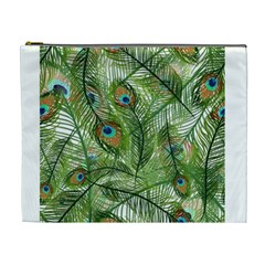 Peacock Feathers Pattern Cosmetic Bag (XL)