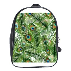 Peacock Feathers Pattern School Bags(large)