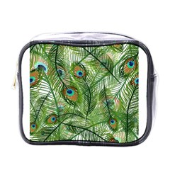 Peacock Feathers Pattern Mini Toiletries Bags