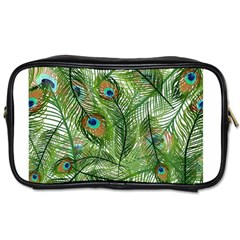 Peacock Feathers Pattern Toiletries Bags 2 Side