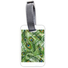 Peacock Feathers Pattern Luggage Tags (Two Sides)