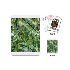 Peacock Feathers Pattern Playing Cards (Mini)
