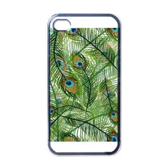 Peacock Feathers Pattern Apple Iphone 4 Case (black)