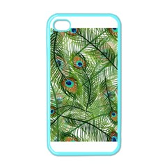 Peacock Feathers Pattern Apple iPhone 4 Case (Color)
