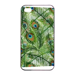 Peacock Feathers Pattern Apple Iphone 4/4s Seamless Case (black)