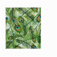 Peacock Feathers Pattern Large Garden Flag (Two Sides)