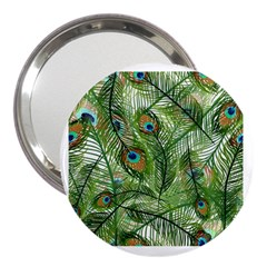 Peacock Feathers Pattern 3  Handbag Mirrors