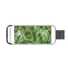 Peacock Feathers Pattern Portable USB Flash (Two Sides)