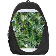Peacock Feathers Pattern Backpack Bag