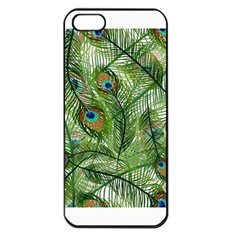 Peacock Feathers Pattern Apple iPhone 5 Seamless Case (Black)