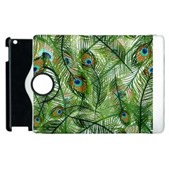 Peacock Feathers Pattern Apple iPad 2 Flip 360 Case