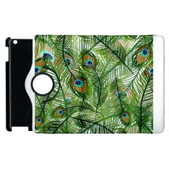 Peacock Feathers Pattern Apple iPad 3/4 Flip 360 Case