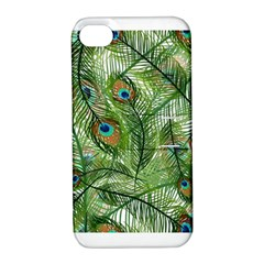 Peacock Feathers Pattern Apple iPhone 4/4S Hardshell Case with Stand