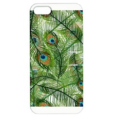 Peacock Feathers Pattern Apple iPhone 5 Hardshell Case with Stand