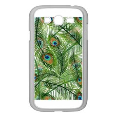Peacock Feathers Pattern Samsung Galaxy Grand DUOS I9082 Case (White)