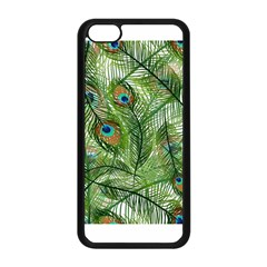Peacock Feathers Pattern Apple iPhone 5C Seamless Case (Black)