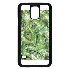 Peacock Feathers Pattern Samsung Galaxy S5 Case (black)