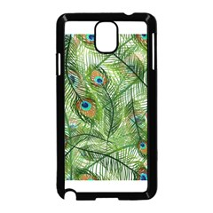 Peacock Feathers Pattern Samsung Galaxy Note 3 Neo Hardshell Case (Black)