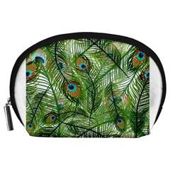 Peacock Feathers Pattern Accessory Pouches (Large)