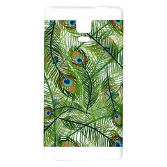 Peacock Feathers Pattern Galaxy Note 4 Back Case