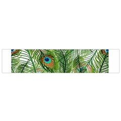 Peacock Feathers Pattern Flano Scarf (small)