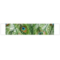 Peacock Feathers Pattern Flano Scarf (Large)