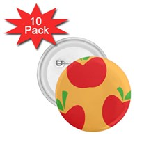 Apple Fruit Red Orange 1.75  Buttons (10 pack)