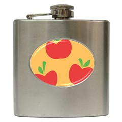 Apple Fruit Red Orange Hip Flask (6 oz)