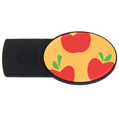 Apple Fruit Red Orange Usb Flash Drive Oval (4 Gb)