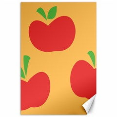 Apple Fruit Red Orange Canvas 24  x 36