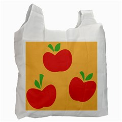 Apple Fruit Red Orange Recycle Bag (one Side)