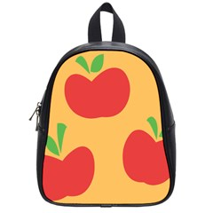 Apple Fruit Red Orange School Bags (Small)