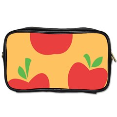 Apple Fruit Red Orange Toiletries Bags