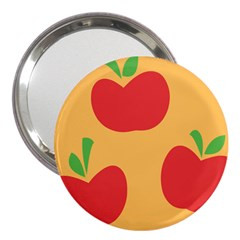 Apple Fruit Red Orange 3  Handbag Mirrors