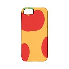 Apple Fruit Red Orange Apple iPhone 5 Classic Hardshell Case (PC+Silicone)