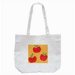 Apple Fruit Red Orange Tote Bag (White)
