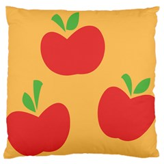 Apple Fruit Red Orange Standard Flano Cushion Case (Two Sides)