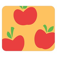 Apple Fruit Red Orange Double Sided Flano Blanket (Small)