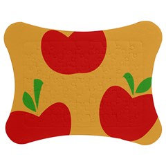 Apple Fruit Red Orange Jigsaw Puzzle Photo Stand (Bow)