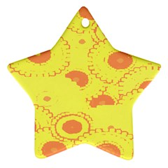 Circles Lime Pink Ornament (Star)