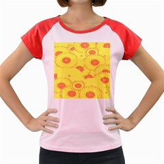 Circles Lime Pink Women s Cap Sleeve T-Shirt