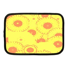 Circles Lime Pink Netbook Case (Medium)
