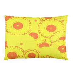 Circles Lime Pink Pillow Case