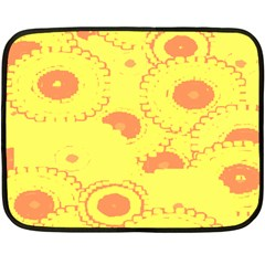 Circles Lime Pink Double Sided Fleece Blanket (Mini)