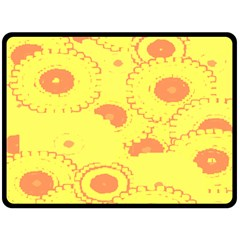 Circles Lime Pink Fleece Blanket (Large)