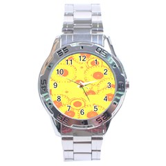 Circles Lime Pink Stainless Steel Analogue Watch