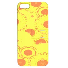 Circles Lime Pink Apple iPhone 5 Hardshell Case with Stand
