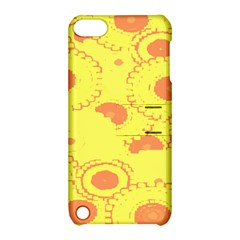 Circles Lime Pink Apple iPod Touch 5 Hardshell Case with Stand