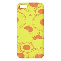Circles Lime Pink Apple iPhone 5 Premium Hardshell Case